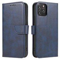 Magnet Case elegancki futerał etui pokrowiec z klapką i funkcją podstawki Samsung Galaxy S10 Lite niebieski