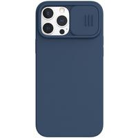 Nillkin CamShield Silky Silicone Case etui pokrowiec z osłoną na aparat do iPhone 13 Pro Max niebieski
