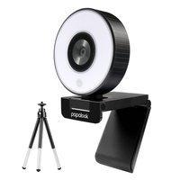 Papalook kamera internetowa Full HD 1080p z mikrofonem na laptopa monitor komputer + mini statyw czarny (PA552)