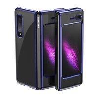 Plating Case hard case pokrowiec etui z metaliczną ramką Samsung Galaxy Fold niebieski