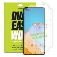 Ringke Dual Easy Wing 2x łatwa w przyklejeniu folia na ekran i boki Huawei P40 (DWHW0002)