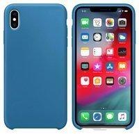 Silicone Case elastyczne silikonowe etui pokrowiec iPhone XS Max ciemnoniebieski