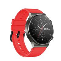 Silikonowy pasek do smartwatcha Huawei Watch GT / GT2 / GT2 Pro czerwony
