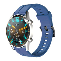 Silikonowy pasek do zegarka smartwatcha Huawei Watch GT / GT2 / GT2 Pro niebieski