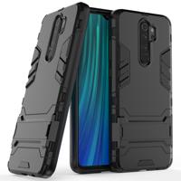 Stand Armor pancerne hybrydowe etui pokrowiec + podstawka Xiaomi Redmi Note 8 Pro czarny