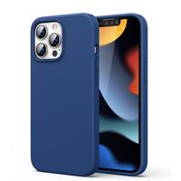 Ugreen Protective Silicone Case gumowe elastyczne silikonowe etui pokrowiec iPhone 13 Pro Max niebieski