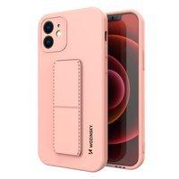 Wozinsky Kickstand Case elastyczne silikonowe etui z podstawką iPhone XS Max różowy