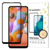 Wozinsky super wytrzymałe szkło hartowane Full Glue na cały ekran z ramką Case Friendly Samsung Galaxy A11 / M11 czarny