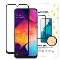 Wozinsky super wytrzymałe szkło hartowane Full Glue na cały ekran z ramką Case Friendly Samsung Galaxy A40 czarny