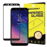 Wozinsky super wytrzymałe szkło hartowane Full Glue na cały ekran z ramką Case Friendly Samsung Galaxy A6 2018 A600 czarny