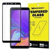 Wozinsky super wytrzymałe szkło hartowane Full Glue na cały ekran z ramką Case Friendly Samsung Galaxy A7 2018 A750 czarny