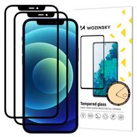 Wozinsky zestaw 2x super wytrzymałe szkło hartowane Full Glue na cały ekran z ramką Case Friendly iPhone 11 / iPhone XR czarny