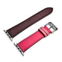 iCarer pasek opaska bransoleta do Apple Watch 44mm / 42mm brązowo-różowy (RIW120-PC)
