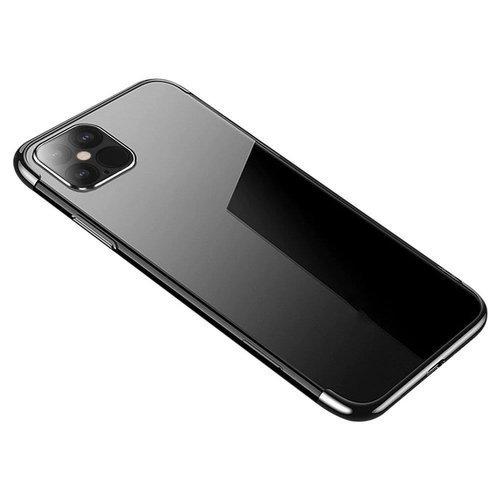 Clear Color case żelowy pokrowiec etui z metaliczną ramką Samsung Galaxy S21 5G czarny