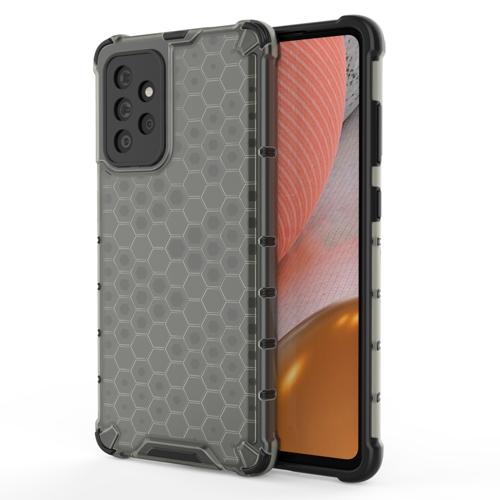 Honeycomb etui pancerny pokrowiec z żelową ramką Samsung Galaxy A72 4G czarny